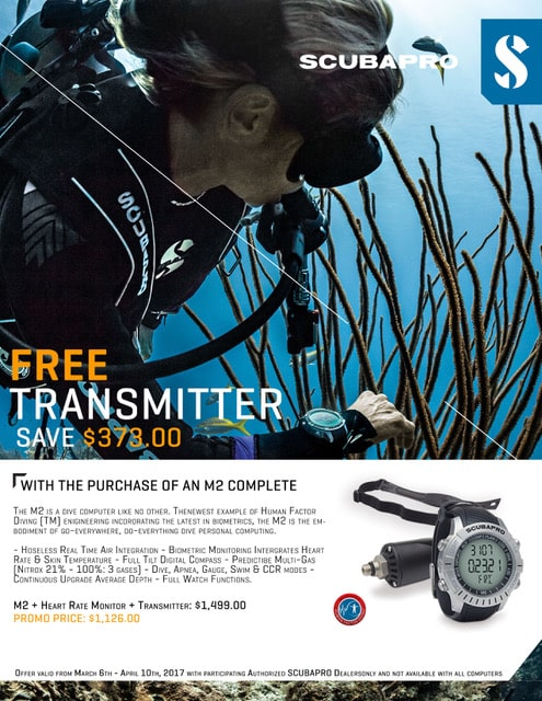 SCUBAPRO M2 Dive Computer with transmitter sale